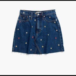 Madewell Embroidered Mini Skirt